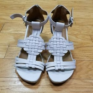 "Kenneth Cole Leather Sandal with 3"" Wedge"